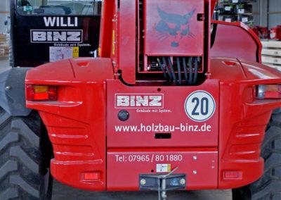 Binz Holzbau - Ellwangen - Bagger - Fahrzeugbeschriftung - 2019 - DSC03613