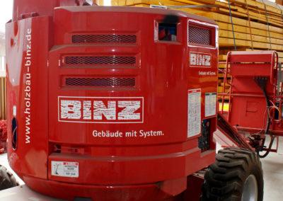 Binz Holzbau - Ellwangen - Kran - Fahrzeugbeschriftung - 2019 - DSC01216