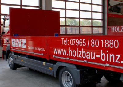 Binz Holzbau - Ellwangen - LKW - Fahrzeugbeschriftung - 2019 - DSC03337