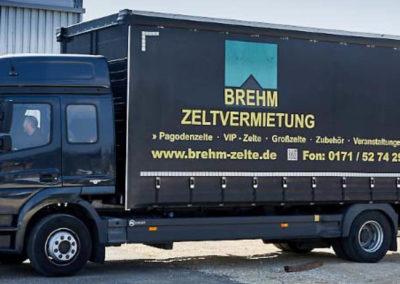 Brehm Zeltvermietung - Schwaebisch Gmuend - LKW - Fahrzeugbeschriftung - 2019