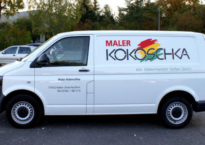 Kokoschka - Aalen - Transporter - Fahrzeugbeschriftung - 2019 - DSC04020