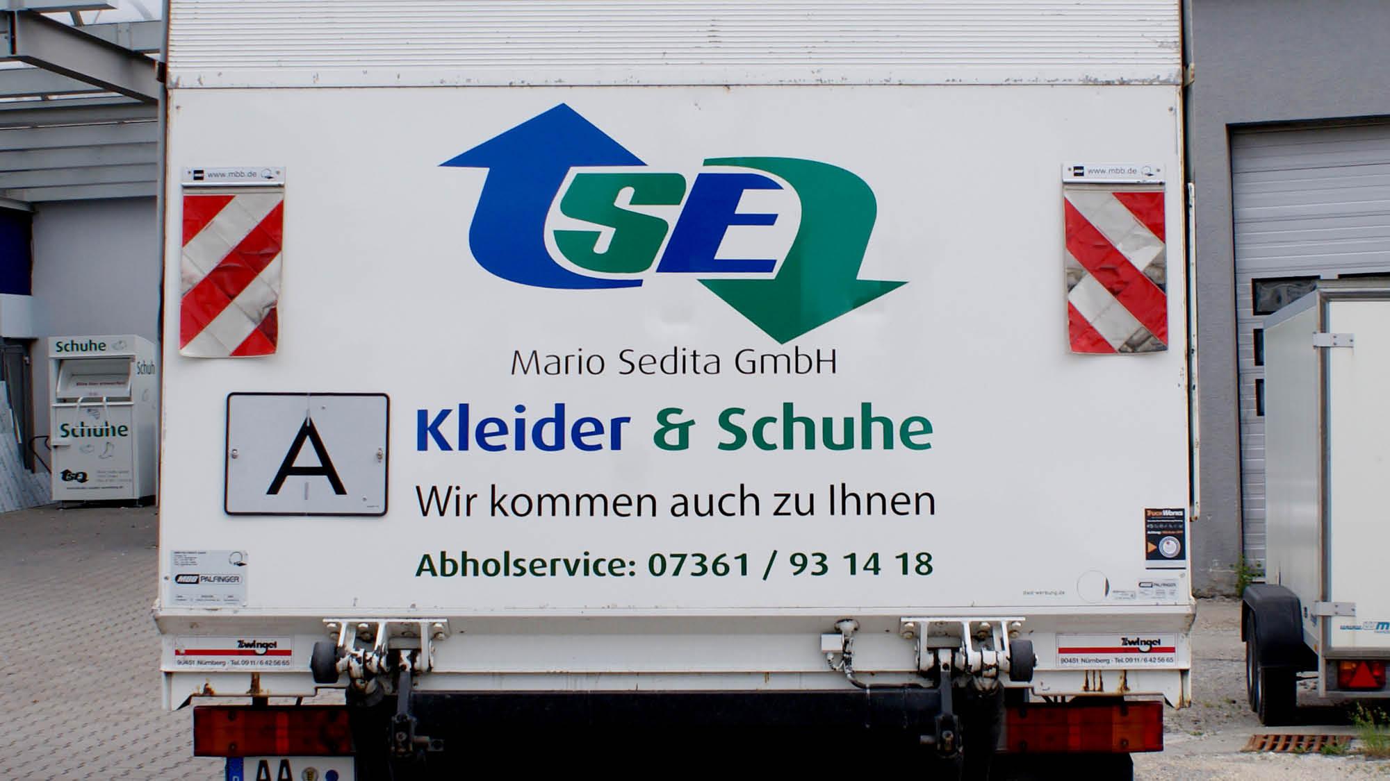 Mario Sedita GmbH - Aalen - LKW - Fahrzeugbeschriftung - 2019 - DSC02497