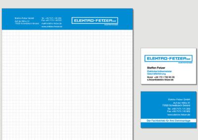 Elektro Fetzer - Schwaebisch Gmuend - Block - Vistitenkarte - Print - 2019