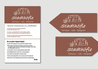 Stadthoefle - Firmenschild - Wegweiser - 2019